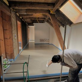 Monitoring the 16mm in total thickness of screed - EMSEC group