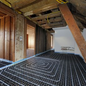 Laying 16mm compact minitec heating system - EMSEC group