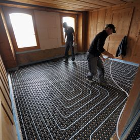 Cernier-NE building laying 16mm compact minitec heating - EMSEC group